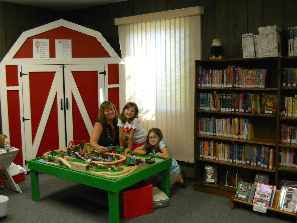 Forestville Library Toy Barn and Train Table